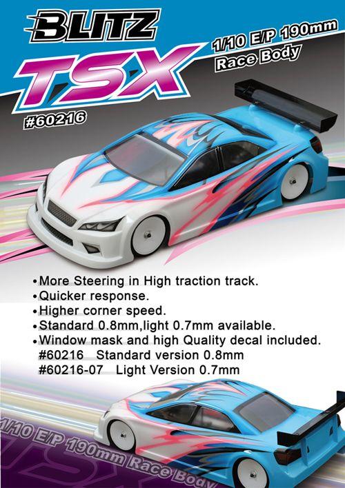 BLITZ Racing TSX 1/10 190mm karosszéria