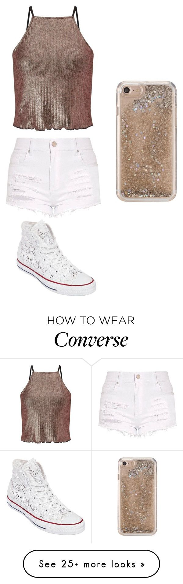"""✨"" by mariam-dekeyrel on Polyvore featuring Miss Selfridge, Agent 18 and Converse"