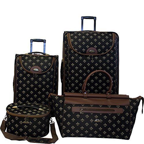 New Trending Luggage: American Flyer Luggage Fleur De Lis 4 Piece Set, Black, One Size. American Flyer Luggage Fleur De Lis 4 Piece Set, Black, One Size  Special Offer: Too low to display  333 Reviews For over 30 years, American Flyer luggage has been designing baggage that is classic, innovative and fashion forward, while being durable and practical American Flyer fleur...
