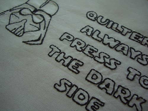 Simple Haha star wars embroidery for quilters