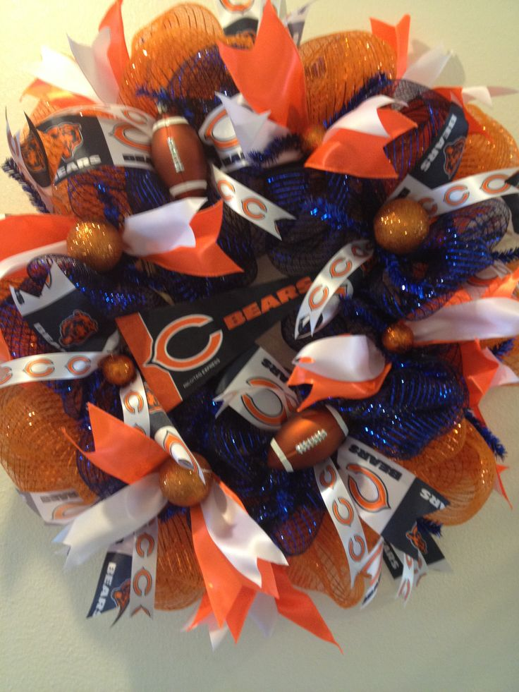 Chicago Bears Deco Mesh Wreath -- Custom Order https://www.facebook.com/pages/Kattfish-Kreations/659509324079375