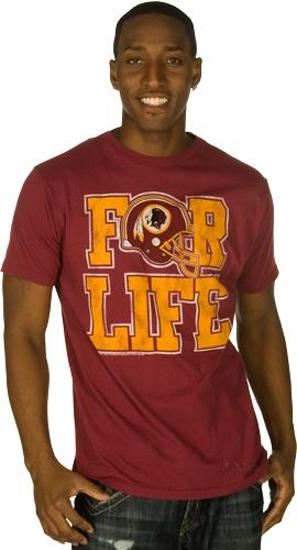 For Life Washington Redskins T-Shirt by Junk Food