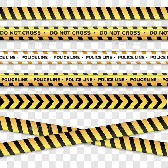 Police And Caution Lines Police Vector Illustration Background