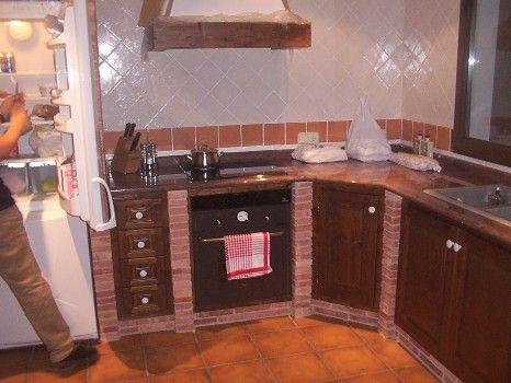 Una de Almu y otra de Arena.: Cocina de obra con toque vintage.