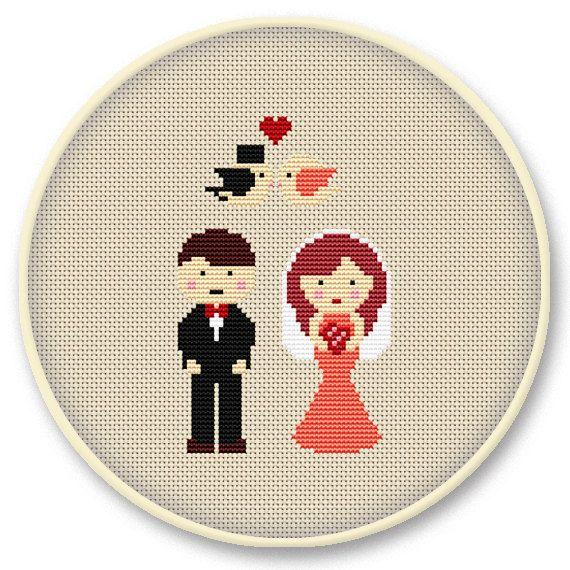 wedding gift idea cross stitch