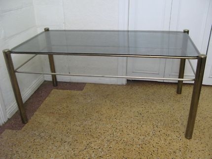 $40 RETRO COFFEE TABLE Large Glass Top & Gold Frame 102x52x49cm TEXT 0411691171 or email info@bitspencer.com