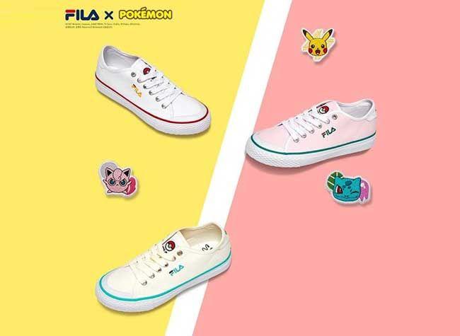 The FILA x Pokemon Sneaker Line #sneakers #pokemon #fila