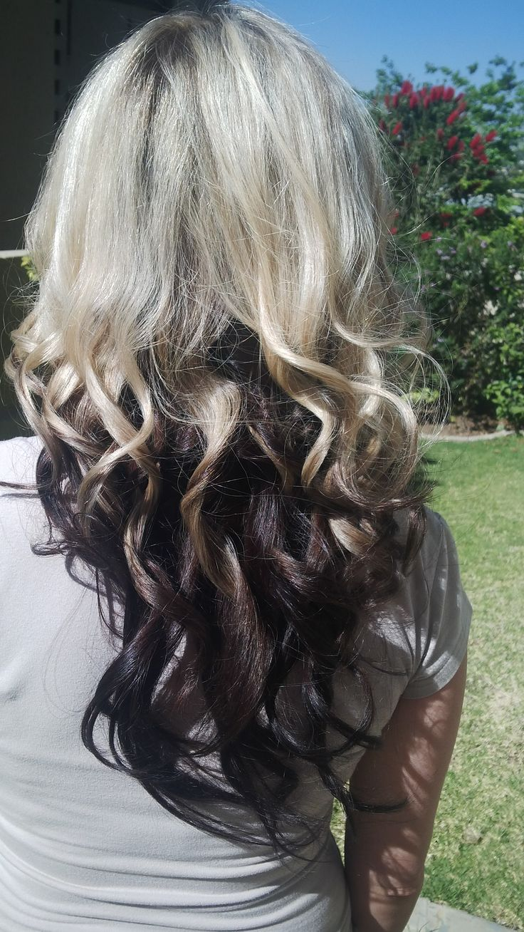 Ombre reversed colour with curls using Babyliss curler