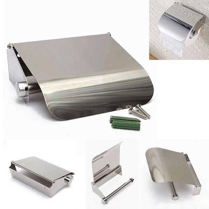 Modern Stainless Steel Bathroom Toilet Paper Holder Roll Tissue Box Wall Mounted Holder Dispenser For Easy Bathroom Tools