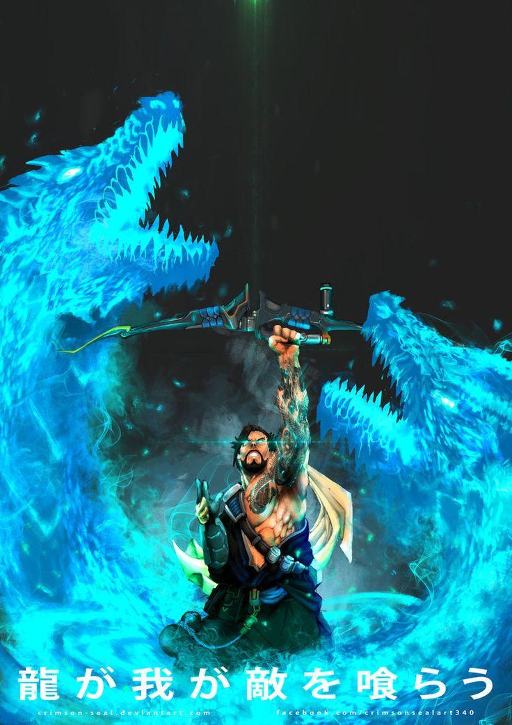 OVERWATCH - HANZO Ryū ga waga teki wo kurau Release the TWIN DRAGONS Genji is here crimson-seal.deviantart.com/ar…