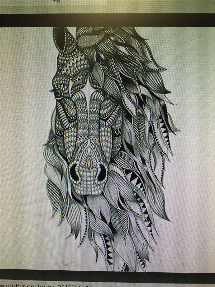 Die besten 25 tattoo pferd ideen auf pinterest pferde zeichnen pferde tattoos und - Mandala de chevaux ...
