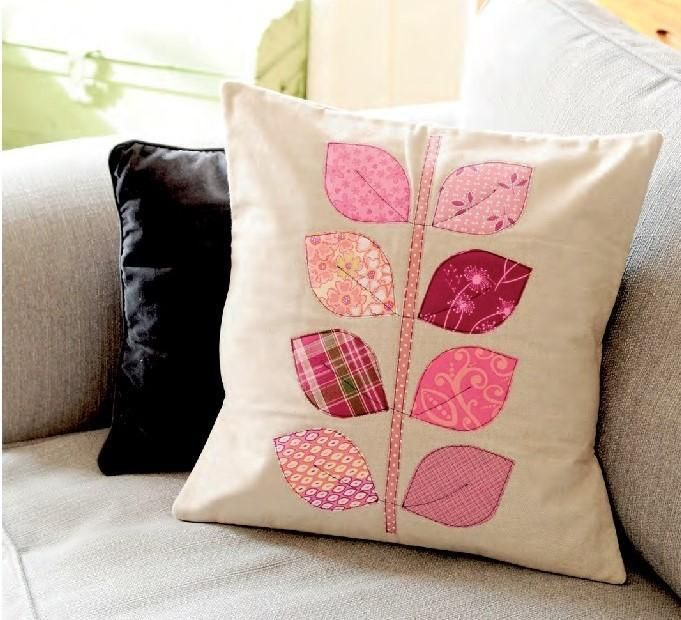 Looking for your next project? You're going to love Applique Leaf Cushion by…