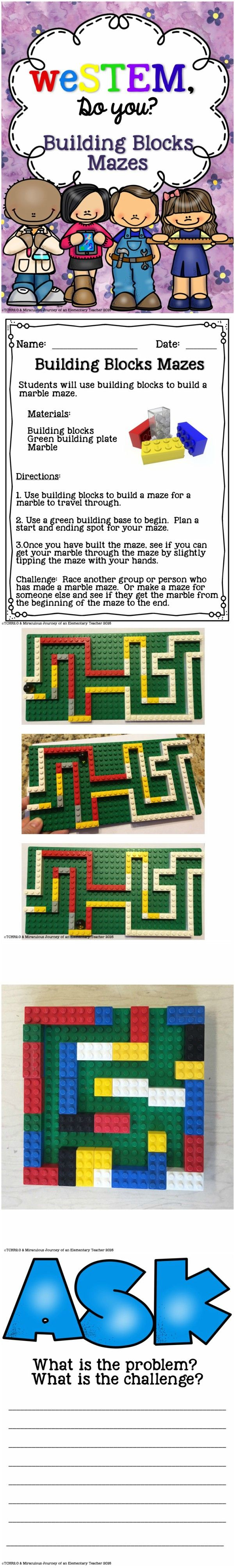 Are you looking for a way to integrate STEM activities into your current curriculum? If so, this product might be just what you are looking for.   This is a SAMPLE of a bigger bundle that we have created for the month of May. Students will make marble mazes using building blocks.
