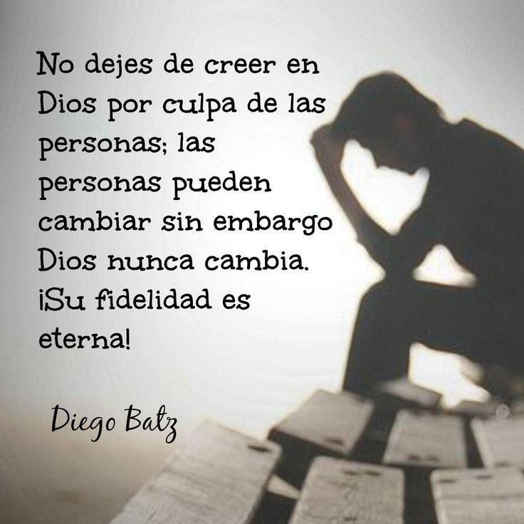 No pierdas la fe. Dios está contigo.