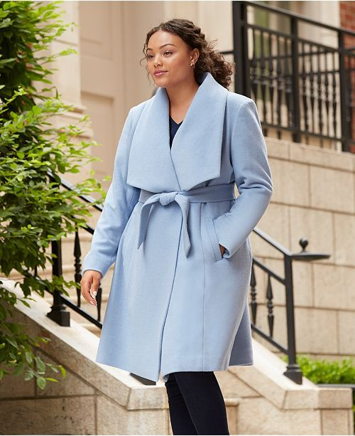 1b638652d Plus Size Belted Wool Wrap Coat   Stylin' and Proflin'   Plus size ...
