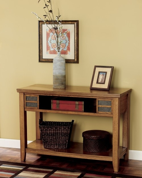 Ashley Furniture Clearance | Cherry Occasional Furniture - Kinley Sofa Table
