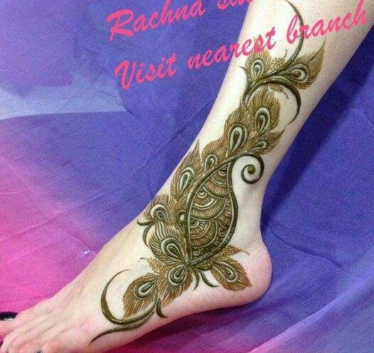 Feet henna