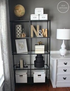 Turning a Dining Room into a Home Office - contemporary - home office - atlanta