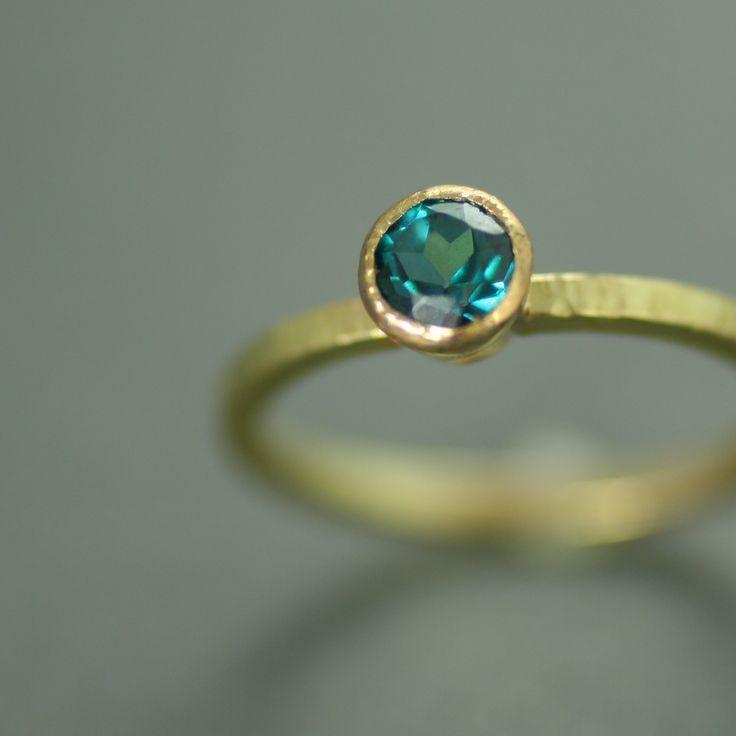 Peacock Topaz Gold ring
