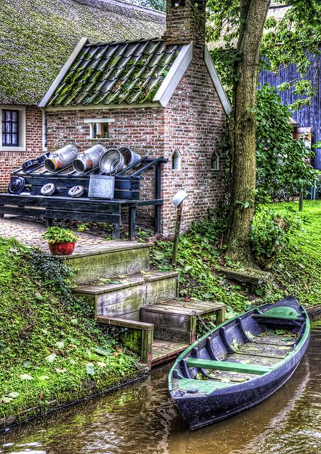 GIETHOORN, NETHERLANDS: waterways for roads lined by gorgeous cottages. It's officially on my European bucket list.