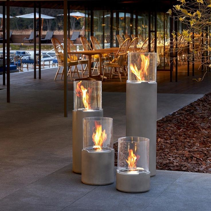 Available in a range of sizes and finishes, the EcoSmart Fire Lighthouse Fireplace is striking all on its own or when grouped together with others. Easily portable, this fireplace can be used anywhere, indoors and out.