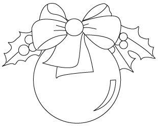 simple christmas ornament coloring pages - photo#22