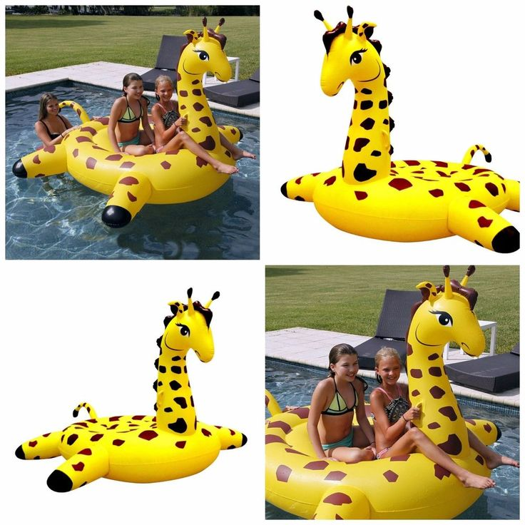 Giant Pool Float Giraffe Water Beach Lounger Raft Outdoor Party Chair Floaties #inflatable #poolparty