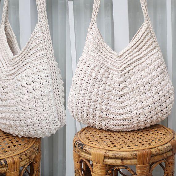 crochet boho bag Vintage crocheted bag handmade crossbody bag crochet beach bag