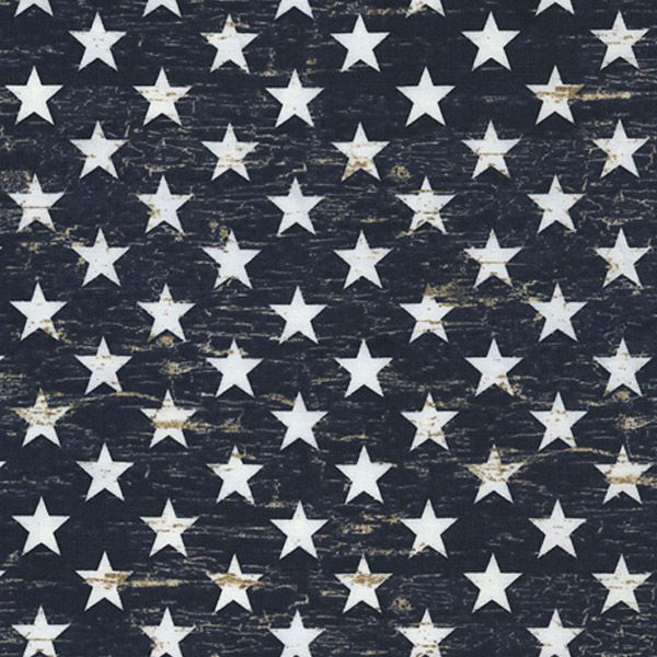Timeless Treasures Fabrics Patriotic Novelty Fabric Navy Patriotic Stars | Quilting | Fabric