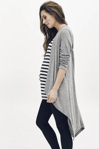 TOUJOURS CARDIGAN - GREY MARLE