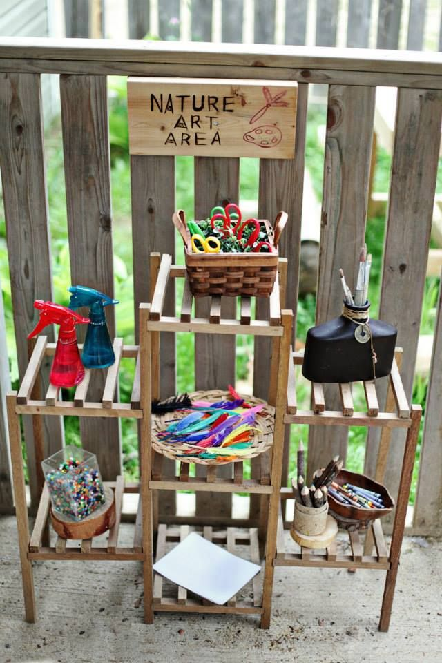 Nature Art Area https://www.facebook.com/pages/Little-Munchkins-Preschool-Center/434199383265993?sk=timeline&app_data