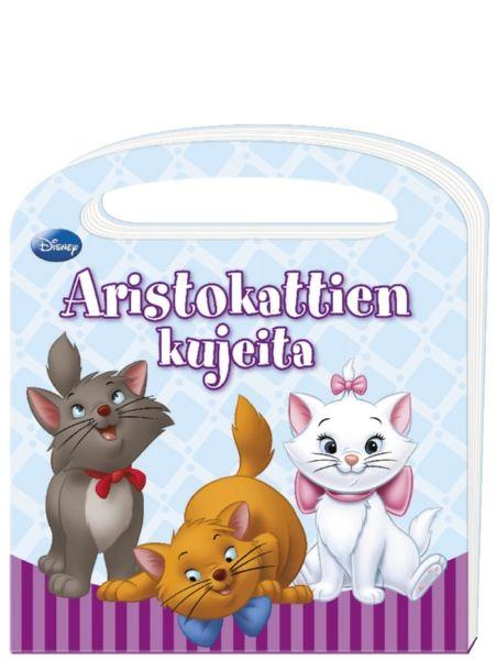 Aristokattien kujeita -kartonkikirjassa seurataan kolmen pehmeänpörröisen Aristokatin elämää päivän verran. Mitä söpöt kissanpoikaset puuhailevat päivät pitkät? Tietysti leikkivät ja nukkuvat!  Pääseeköhän Marie mukaan veljiensä leikkeihin?