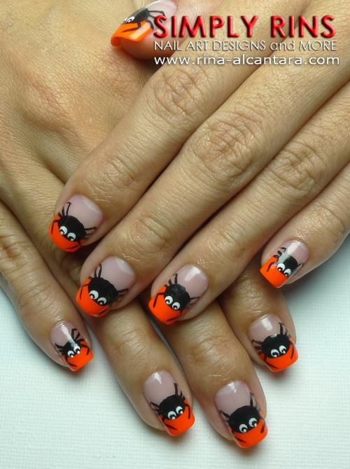 DIY halloween nails: DIY Halloween nail art : Nail Art: Spider Tips
