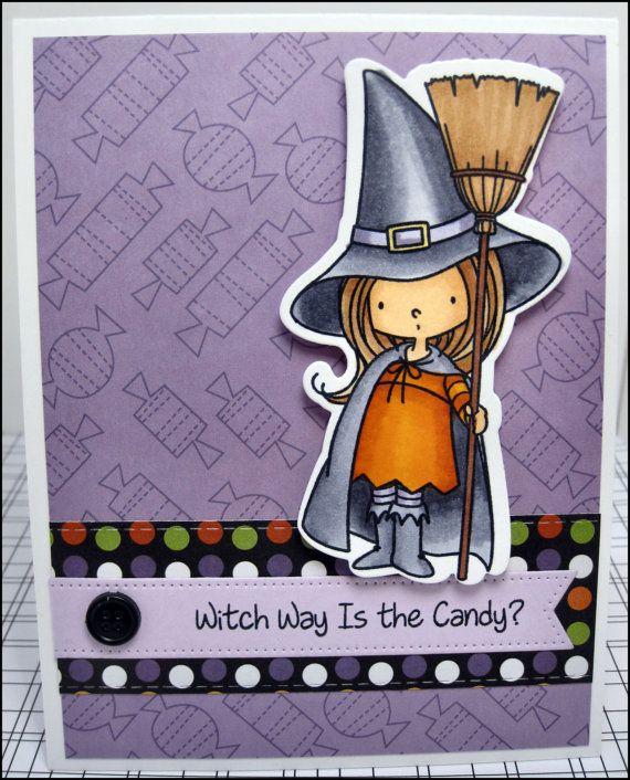 Handmade Halloween Card By MasonJarCards On Etsy