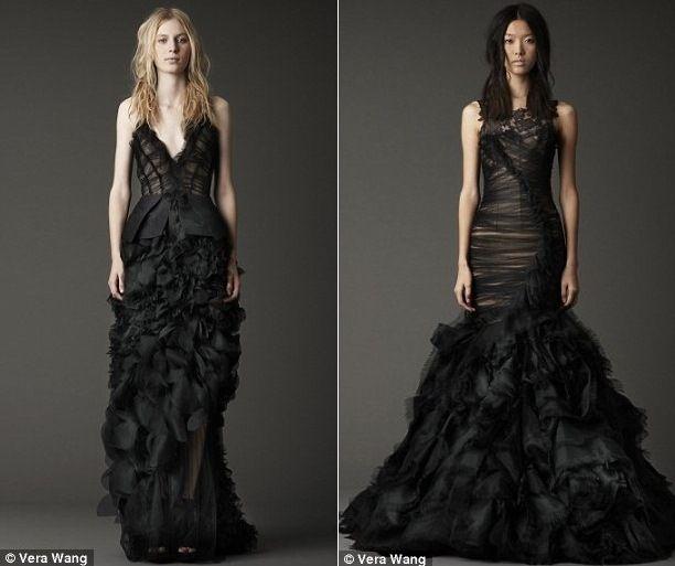 Per il vostro matrimonio non volete passare inosservate? Indossate un abito da sposa nero di Vera Wong!