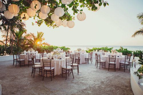 outdoor wedding lighting idea | Something Borrowed
