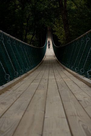 Experience the swinging bridge at Foxfire Mountain in Sevierville #Tennessee. http://visitsevierville.com/