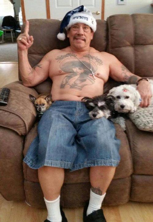Danny Trejo Mesmerizing Males Danny Trejo Santa Hat
