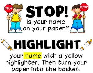 Name reminderTeaching, Schools Ideas, Paper, Names, Classroom Management, Education, Ladybugs Teachers, Classroom Ideas, Highlights