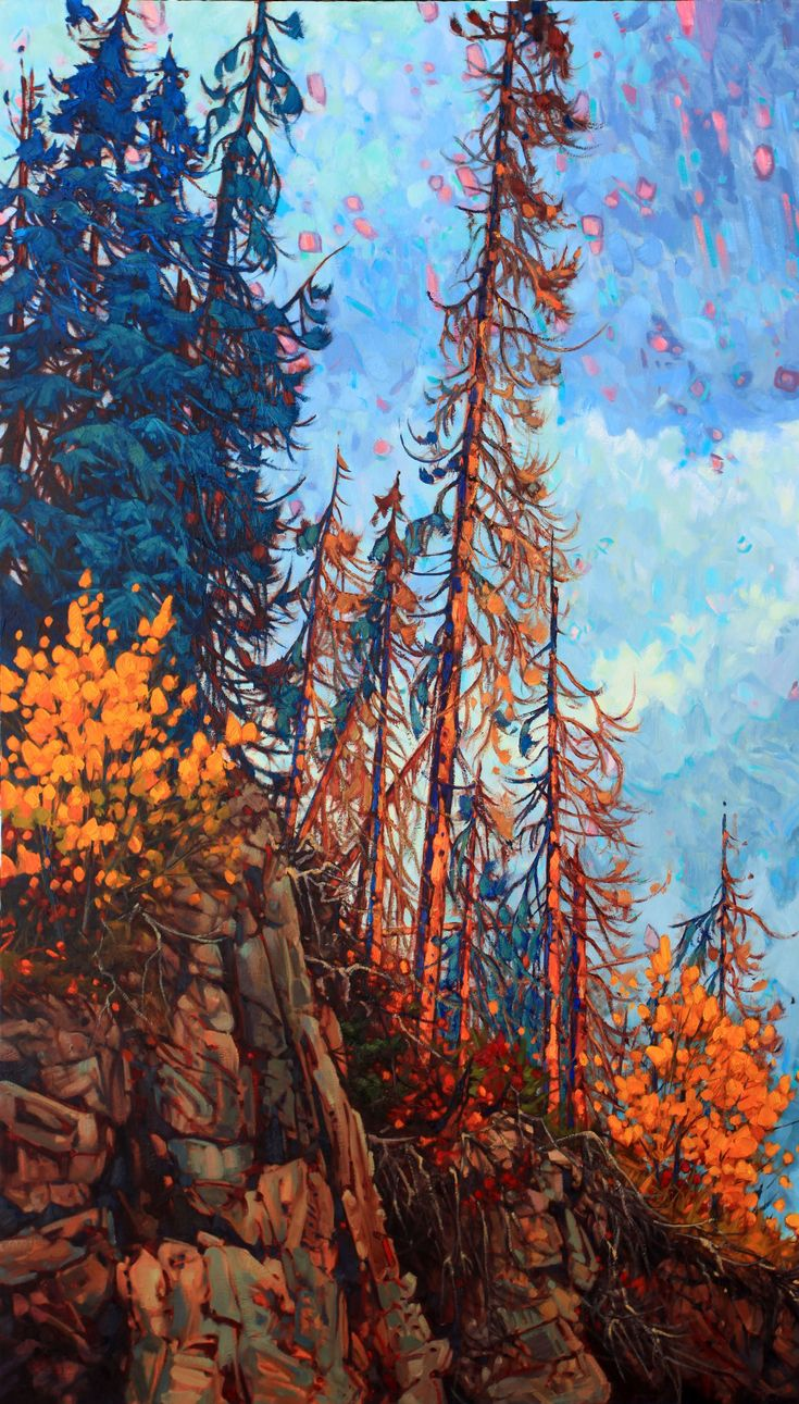 "Just completed new painting from Northern British Columbia which is spectacular during the autumn season ! "" AUTUMN SKIES ""  60"" X 48"" oil on canvas  artworkshops #oilpainting #landscape #color #Yukon #NWT #canadahousegallery #painting #paintings #paintingoftheday #paintingsforsale #paintingprocess #paintingvideo #paintingstudio #paintingaday #pleinair #pleinairpainting #pleinairpaintings #pleinairartist #pleinairsketch #pleinairlandscapepainting #tvseries #art #artist #artwork"