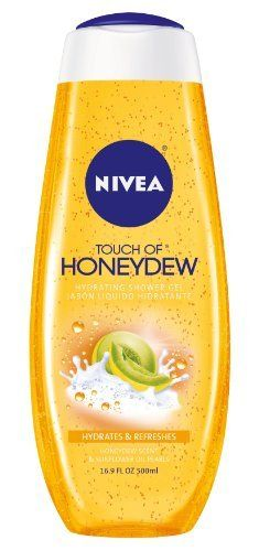 Nivea Hydrating Shower Gel, Honeydew and Pearl, 16.9 Ounce by NIVEA. $3.97. This skin-indulging formula creates a deliciously pampering. Sweet scent of freshly cut honeydew. Skin with intense long-lasting moisturization. Nivea honeydew and pearl hydrating shower gel, honeydew. Nivea touch of honeydew hydrating shower gel blends the sweet scent of freshly cut honeydew from southern france with moisturizing pearls made with golden sunflower oil. This skin-indulging ...