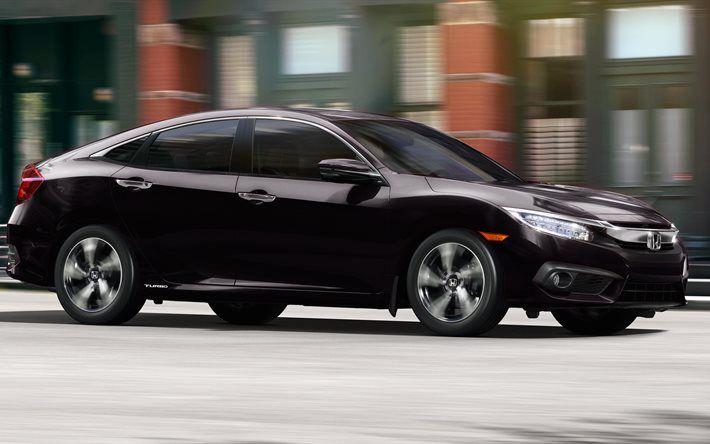 Honda Civic, 2016, sedan, black Civic, new Civic, Honda