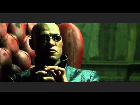 My all-time favorite scene from The Matrix: the production design, the cinematography and the content of the scene is incredible. It's interesting to note, that as Neo begins to learn the world isn't real, the world around him seems to be eroding away. The rotting interiors show that, and it really works.