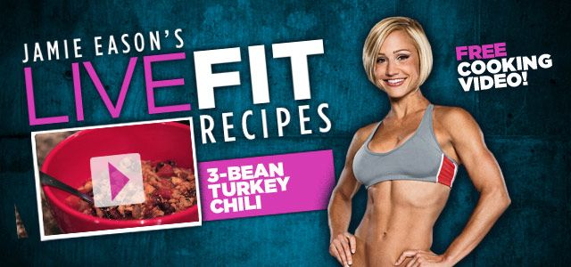 Jamie Eason's 3-Bean Turkey Chili Recipe!: Clean Eating, Breads Recipes, Protein Bars, Protein Bar Recipes, Livefit Recipes, Eason Livefit, Jamie Eason, Pumpkin Protein Bar, Meatloaf Recipes