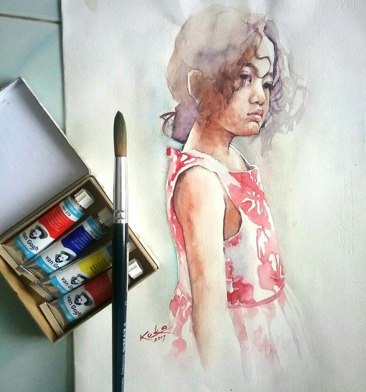 Watercolor painting @kokoponiman 2017