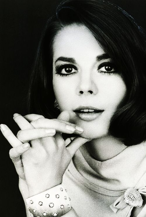 Natalie Wood (1966).Vintageblack and white Hollywood
