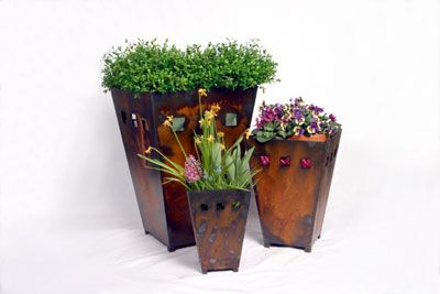 Furniture,General Accessories,Home Decor, metal,patina,planter,Rustic, outside decor, inside decor, modern planter Medium Rustic Planter*$163.95Match the sizes for a formal look on either side of your front entry or mix and match for a more casual feeling. Measaures 19″x14″x14″ Store pick up ONLY Shipping not available
