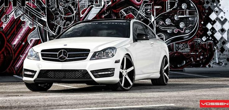 Mercedes_Benz_C_Class_on_Vossen_Wheels Even if you don't have the cash for #VossenWheels you can get the look with #RimWraps, #WheelBands and other #WheelAccessories
