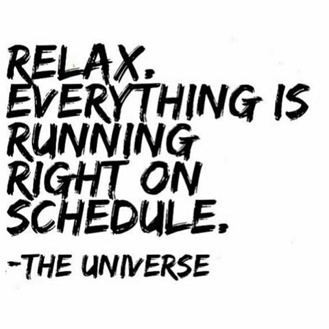 Relax. Everything is running right on schedule.
