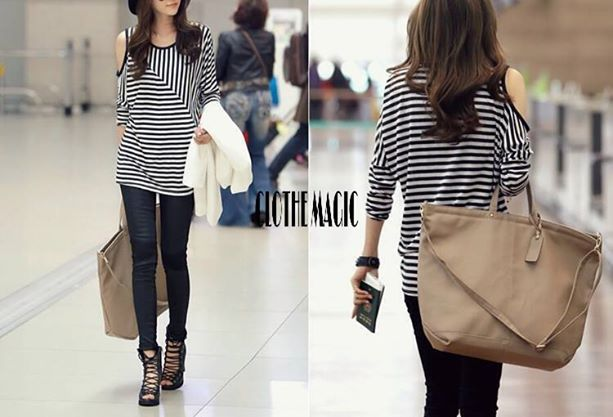 black and white stripped shirts :3